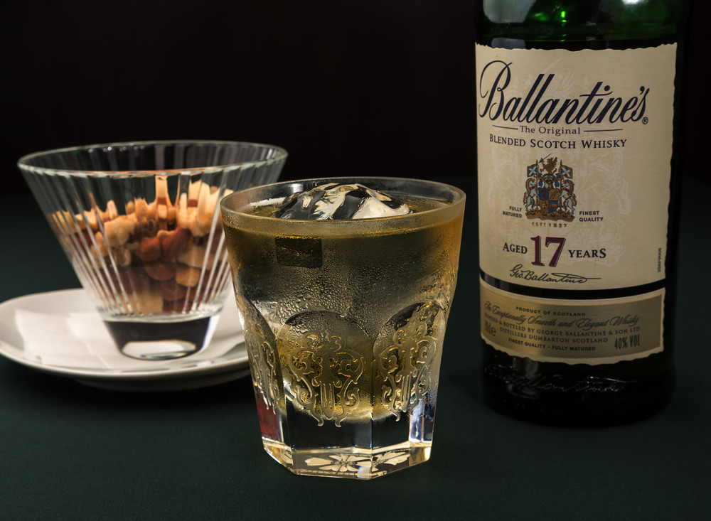 Whisky with snack