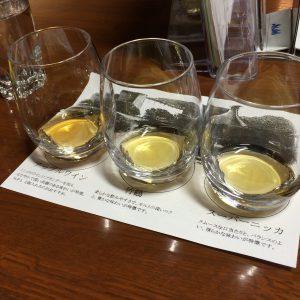 右からスーパーニッカ、竹鶴、アップルワイン