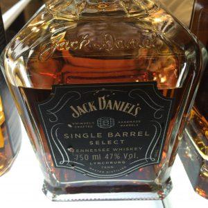 Jack Daniel'sのシングルバレルの表ラベル。