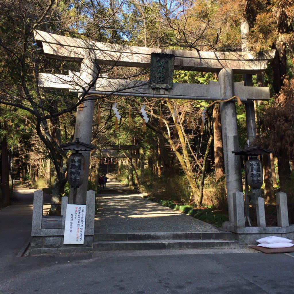 山崎蒸留所に隣接する椎尾神社。1923年以来、蒸留所の竣工式である11月11日にお祭りをしている。