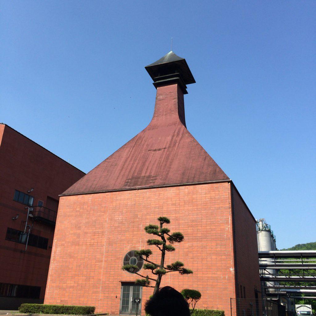 宮城峡蒸留所のシンボルとしての機能を果たすのみとなったキルン(麦芽乾燥塔)