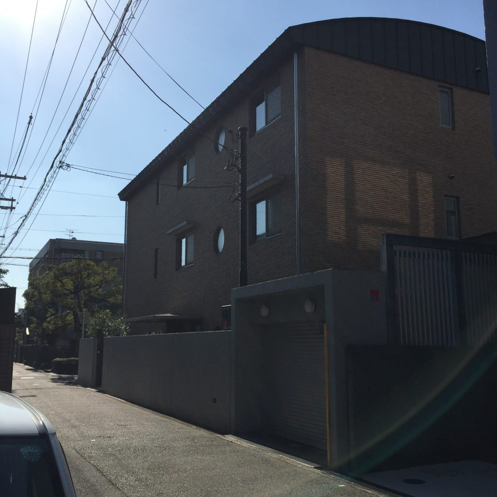 竹鶴政孝とリタが住んでいたと推察されている帝塚山の敷地。