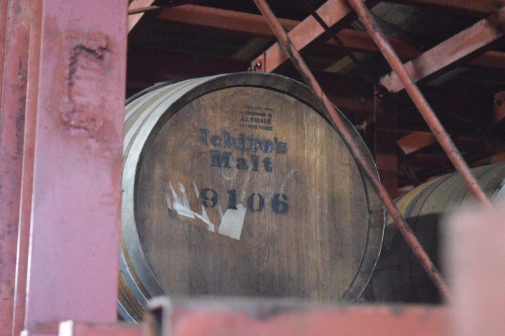イチローズ・モルトの樽。販売権は当然、肥土伊知郎氏が持っている。