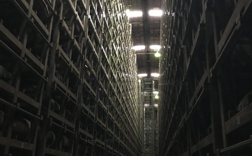 熟成庫の中。静寂が広がります。