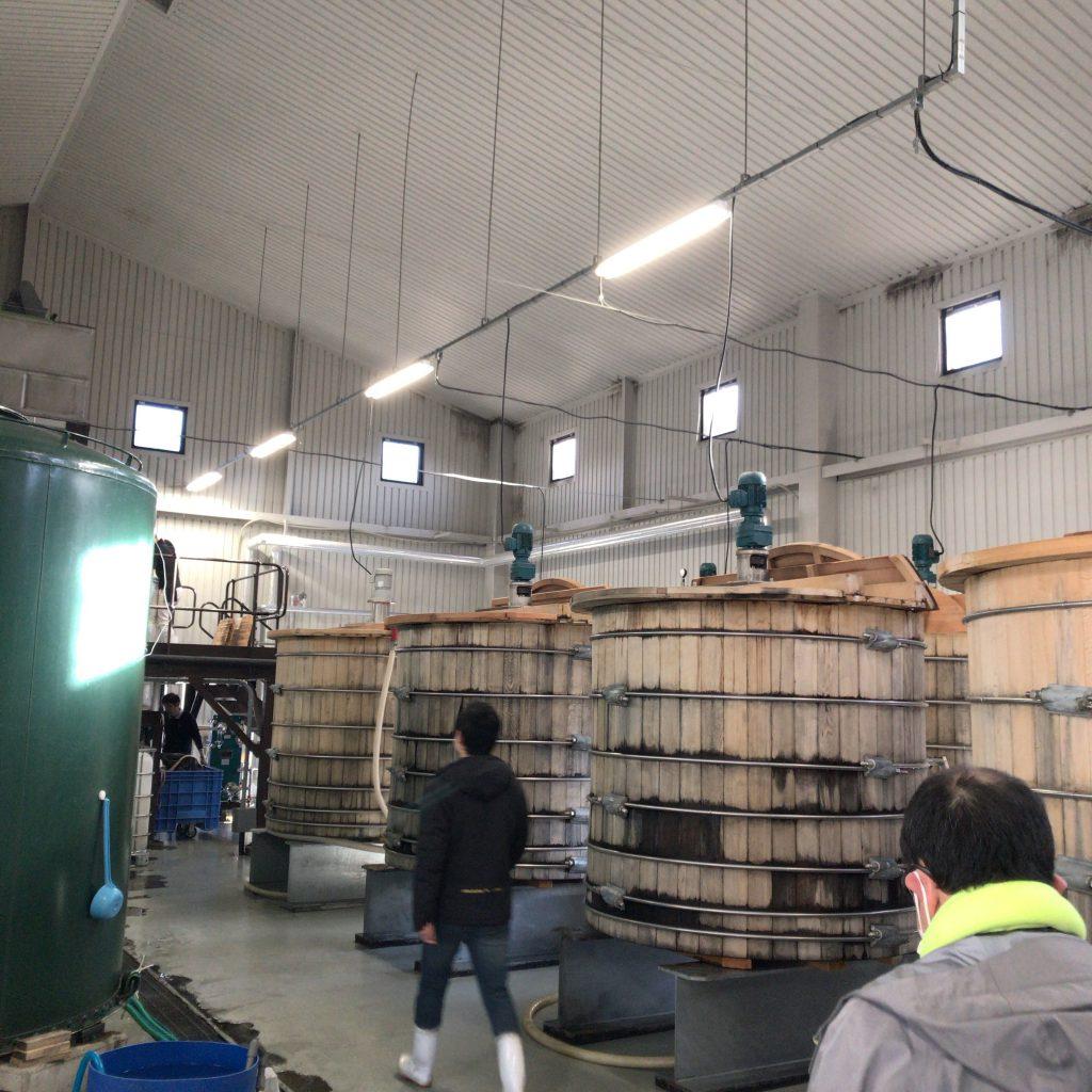 秩父蒸溜所の発酵槽。ミズナラ製。