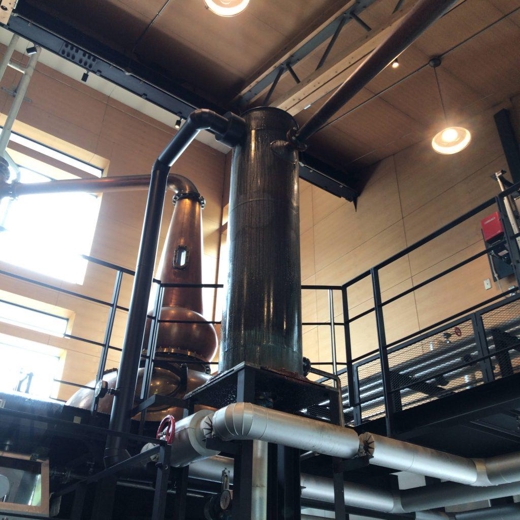 軽井沢蒸留器の冷却器。