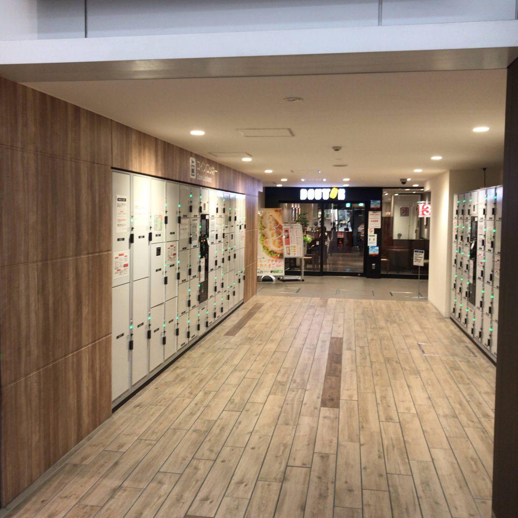 静岡駅北口のコインロッカー